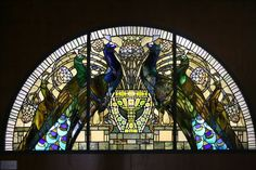 stained glass and peacocks. I love it when two of my favorite things collide.