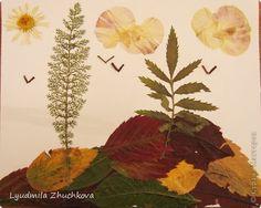 Картина панно рисунок Флористика Праздник осени Аппликация флористика Осенний пейзаж Материал природный фото 10