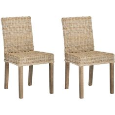@Overstock - Natural rattan takes a traditional dining shape and gives it a new organic lease on life in the Grove side chairs. Shown with grey transparent textured finish on legs and crafted of rattan and mango wood, Grove is easy-going enough for the beach.http://www.overstock.com/Home-Garden/Grove-Unfinished-Natural-Wicker-Side-Chairs-Set-of-2/7634033/product.html?CID=214117 $304.99