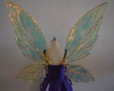 XL Cornelius Inspired Cosplay Fairy Wings in 2019 Adult Fairy Wings, Diy Fairy Wings, Diy Wings, Cosplay Wings, Fairy Cosplay, Orianna League Of Legends, Fairy Wings Costume, Water Fairy Costume, Dark Fairy Costume
