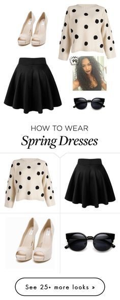 """""""Spring Fling"""" by jmestep on Polyvore featuring Nly Shoes, women's clothing, women's fashion, women, female, woman, misses and juniors"""
