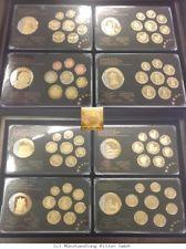 RITTER 8x Prestige Specimen Set with 9 medals, 24-carat gildening,1xGolden Stamp #coins