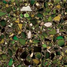 Bistro Green with Patina Recycled glass countertop