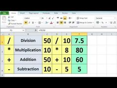 ▶ Excel 2010 Tutorial For Beginners #3 - Calculation Basics & Formulas (Microsoft Excel) - YouTube