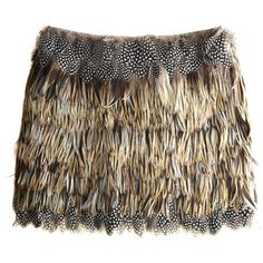 Calypso St. Barth Carla Feather Mini ($149) ❤ liked on Polyvore featuring skirts, mini skirts, bottoms, saias, faldas, brown skirt, short brown skirt, brown mini skirt, long silk skirt and feather skirt