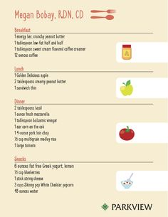 3 dietitians step up to the plate - See a page from 3 different dietitians food diaries look like | via @ParkviewHealth