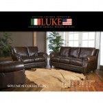 Luke Leather Solomon Italian Leather Sofa and Loveseat Set - Solomon-SET  SPECIAL PRICE: $2,484.00