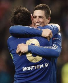 Torres and Lampard celebrating