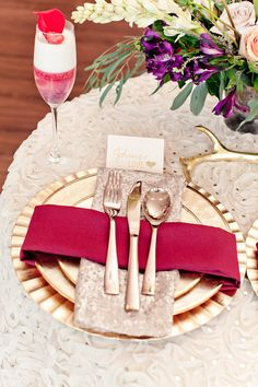 Valentine's Day Inspired - Color of the Year - Marsala, Pink   Gold