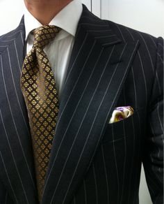 Tom Ford era Gucci suit Borrelli shirt Charvet tie Vintage Gianni Versace Barocco square