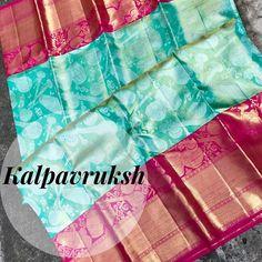 Lehenga Designs Simple, Saree Tassels Designs, Wedding Saree Blouse Designs, Pattu Saree Blouse Designs, Kanjivaram Sarees Silk, Soft Silk Sarees, Indian Bridal Sarees, Wedding Silk Saree, Fancy Sarees Party Wear