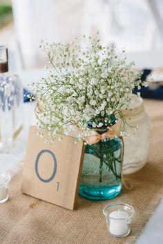 over-sized scrabble tiles as table numbers // photo by Braun Photography // http://ruffledblog.com/cincinnati-summer-wedding