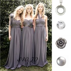 gray bridesmaid dress, long bridesmaid dress, chiffon bridesmaid dress, convertible bridesmaid dress, from Dreamgown Grey Bridesmaids, Wedding Bridesmaid Dresses, Prom Dresses, Dress Prom, Party Dress, Long Dresses, Dresses 2014, Charcoal Bridesmaid Dresses, Prom Party