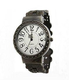 KANO BAK Womens Ladies Retro Vintage Antique Bangle Bracelet Wrist Watch White Round Dial - Jewelry For Her