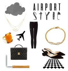 Ready to Fly? by gfgjewellery on Polyvore featuring Frame Denim, Paul Andrew, Chanel and GFG