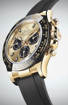 New Rolex Cosmograph Daytona Watches In Gold With Oysterflex Rubber Strap and Ceramic Bezel For 2017