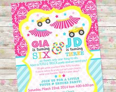 Carousel Party Invite Round and Round Girl by DreamlikeMagic