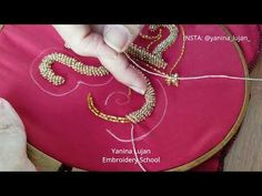 TUTORIAL 13 - Bordado en pedreria de cordón con relieve. - YouTube Gold Work, Embroidery For Beginners, Dance Outfits, Mehendi, Beaded Embroidery, Diy Clothes, Couture, 21st, Beads