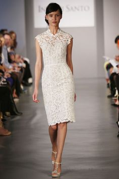 Ines di Santo Spring 2014 Collection #littlewhitedress #short #weddingdress