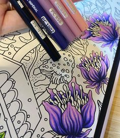 Flower Art Drawing, Floral Drawing, Drawing Art, Colour Drawing, Coloring Book Art, Coloring Tips, Coloring Pages, Adult Coloring, Drawing Techniques Pencil