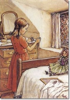 Groundsel and Necklaces by Cecily Mary Barker. Loved this story of fairies giving necklaces to a poor girl when I was little.