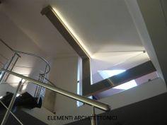 Elementi architettonici illuminati a led
