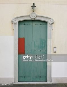 #Stock #photo: #View Of #Blue #Door