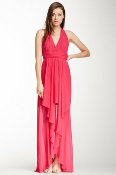 Nicole Miller Pleated Halter Gown by Non Specific on @HauteLook