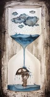 Image result for hourglass umbrella sand to water illustration