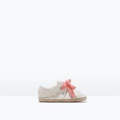 ZARA - SHOES & BAGS - Leichter Schuh mit Jute mit Schnürsenkeln