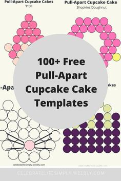 Parties Parties Janyra Marcano cupcake template Popular Characters Pull-Apart Cupcake Cake Template Over 100 Free templates for DIY Pull-Apart nbsp hellip cakes pull apart Small Cupcakes, Cupcakes For Boys, Girl Cupcakes, Making Cupcakes, Unicorn Cupcakes Cake, Cupcake Birthday Cake, Cupcake Party, Cupcake Template, Cake Templates