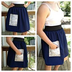 Doctor Who TARDIS Costume skirt by NonstopFandomShop on Etsy