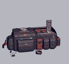 Ammobag OccultArt _ on ArtStation at… Game Props, Applied Science, Space Exploration, Studio, Artwork, Fingers, Weapons, Concept Art, Surface
