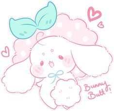 Cakie Butt by Sarilain on DeviantArt Cute Animal Drawings Kawaii, Kawaii Art, Cute Drawings, Kawaii Anime, Kawaii Bunny, Cute Cartoon Wallpapers, Animes Wallpapers, Kawaii Wallpaper, Cute Icons