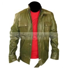 Wanted James McAvoy Olive Green Leather Jacket | Stylo FashionsStylo Fashions