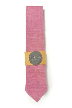 Red /framboise redorganic cotton tie - Wedding Mens Tie Skinny Necktie - Laid-Back necktie by speaklouder on Etsy