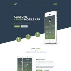 ApNew – App Landing PSD Template is a One Page PSD Template For app marketing websites. It is designed with a clean look. PSD files are well organized and named accordingly so its very easy to customize. More Details: https://devitems.com/item/apnew-app-landing-psd-template/