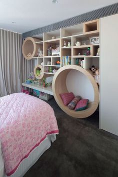 25 Cute Girls Room Ideas - Style Estate  floor kame..begin maar vast te timmeren papa h..-