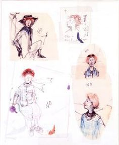 """Barbara Cooney Group of ink and pencil sketches for """"Miss Rumphius"""", 1982"""