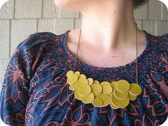 Cute Leather/ Vinyl Necklace.