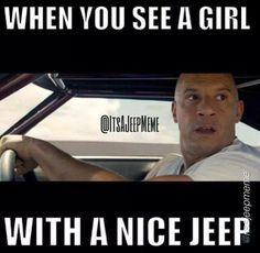 """""""When you see a girl with a nice JEEP"""" _____________________________ Reposted by Dr. Veronica Lee, DNP (Depew/Buffalo, NY, US)"""