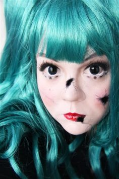 Makeup your Jangsara: Tutorial: Broken Doll ...... She has a cute little mouth ^.^ look at it