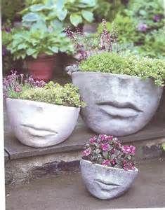 Image detail for -Specializing in Container Design and Garden Art Face Planters, Garden Planters, Stone Planters, Garden Whimsy, Container Design, Garden Inspiration, Garden Ideas, Dream Garden, Yard Art