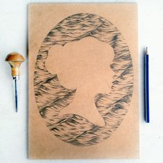 Cameo Woodcut, Water ripples
