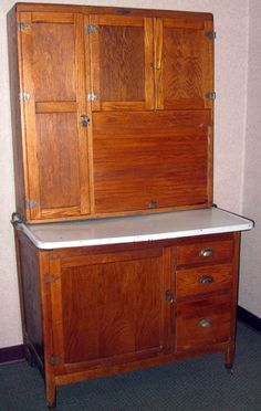 napanee dutch kitchenet | 236: Oak Hoosier Cabinet : Lot 236