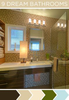 Voted this best bathroom remodel - I used this mosaic tile in my home - looks fantastic!  Simple and elegant spa feel