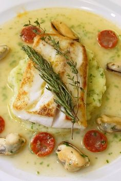 NYT Cooking: This recipe came to The Times in 2002 from the French chef Eric Rip. NYT Cooking: This recipe came to The Times in 2002 from the French chef Eric Ripert, whose cooking Cod Recipes, Fish Recipes, Seafood Recipes, Cooking Recipes, Nytimes Recipes, Cooking Chef, Cooking School, Salmon Recipes, Dinner Recipes