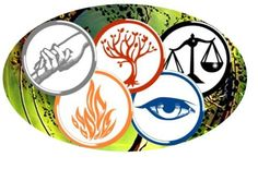 Divergent symbols, they have them as tattoos and I totally agree, maybe a Erudite tat one day