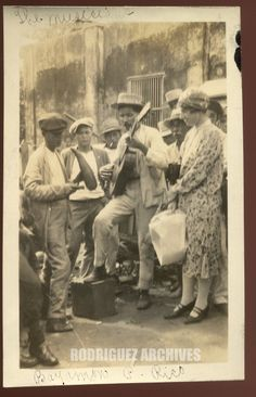 BAYAMON 1928 - Street Musicians playing the Guitar and the Guiro - Rodríguez Archives