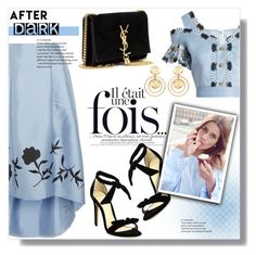 """After Dark: Party Outfits"" by sans-moderation ❤ liked on Polyvore featuring Peter Pilotto, NOIR Sachin + Babi, Alexandre Birman, Yves Saint Laurent and Kenneth Jay Lane"